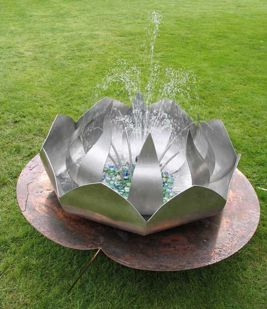 Lotus Flower Water Feature By Pmf Designs